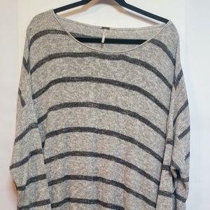 Free People Women's Size L Oversized Gray Sweater